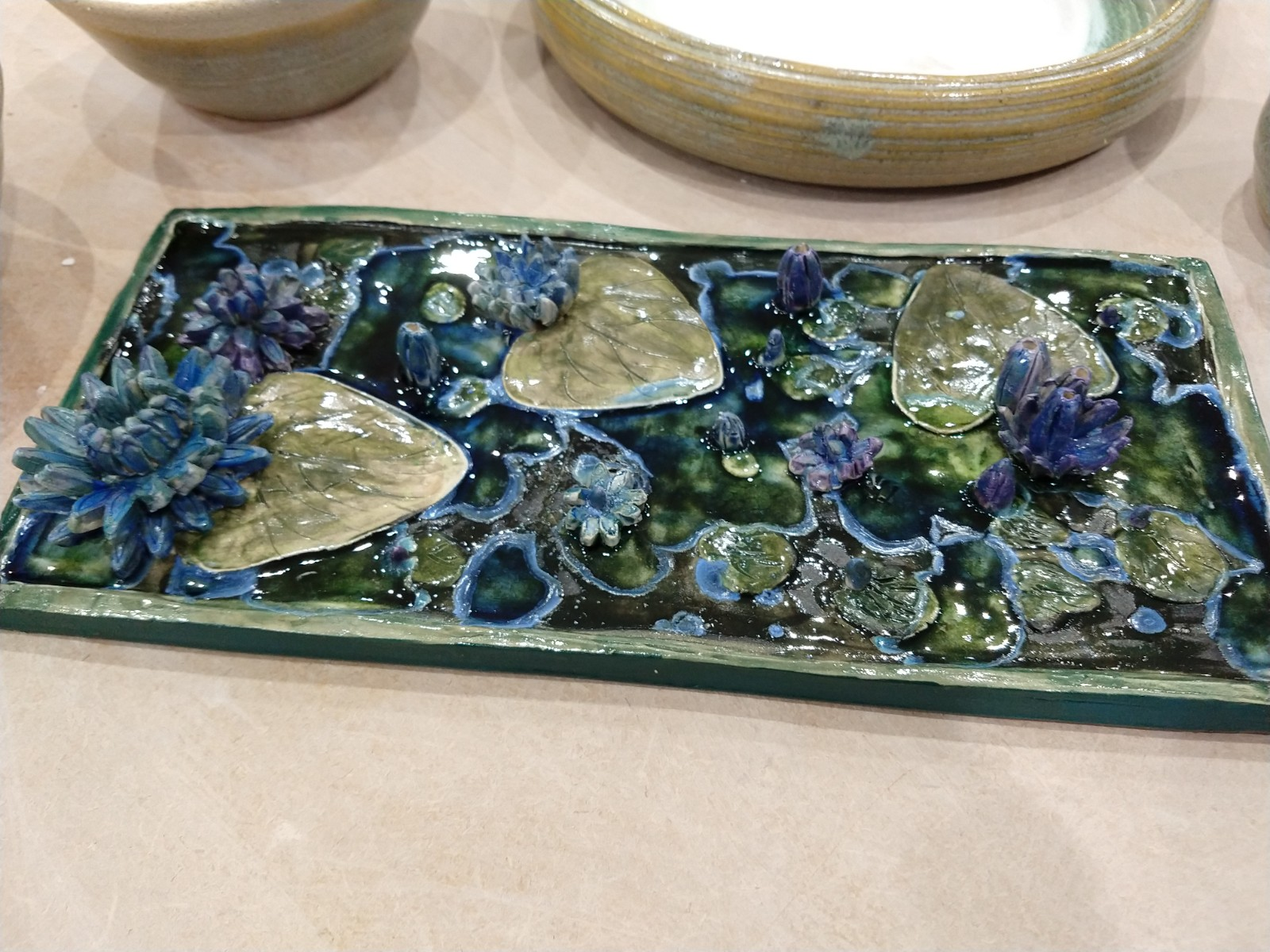 Close up of a tray
