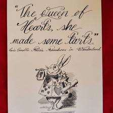 Calligraphy quote 1-Alice in Wonderland