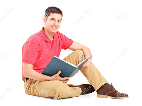 Student Reading Book Just for Pleasure of Saying He Reading for Pleasure