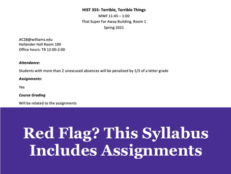 Red Flag? This Syllabus Includes Assignments