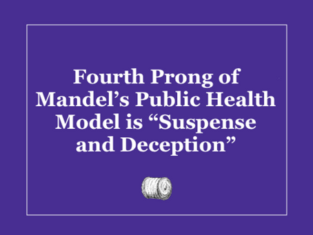 """Fourth Prong of Mandel's Public Health Model is """"Suspense and Deception"""""""