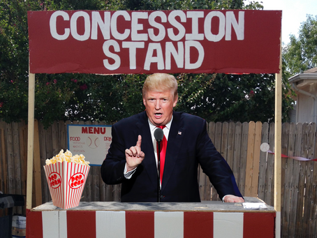 Due to Another Staff Error, Donald Trump Gives a Speech From a Concession Stand