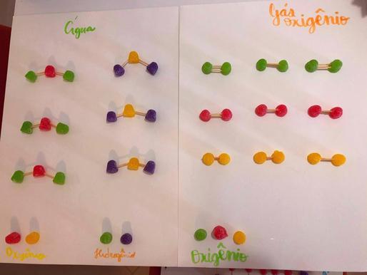 Moléculas de balas de goma