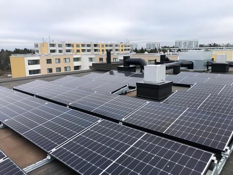 Aurinkosähköä taloyhtiölle