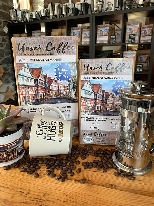 """""""Unser Caffee"""" Niddaer Marktkaffee No3 Melange 1kg/€26,00"""