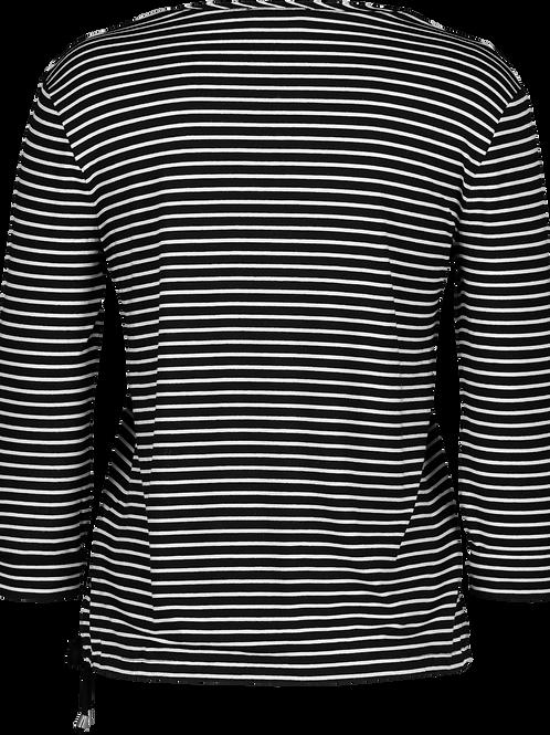 Sommer-Pullover weiß-schwarz gestreift