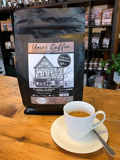 """""""Unser Caffee"""" Espresso No7 1kg/25,00€"""