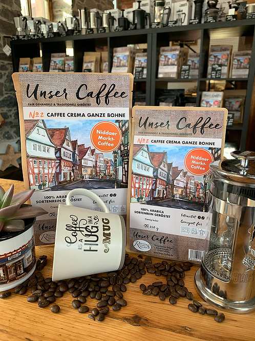 """""""Unser Caffee"""" Niddaer Marktkaffee No2 Caffee Crema 1kg/€24,00"""