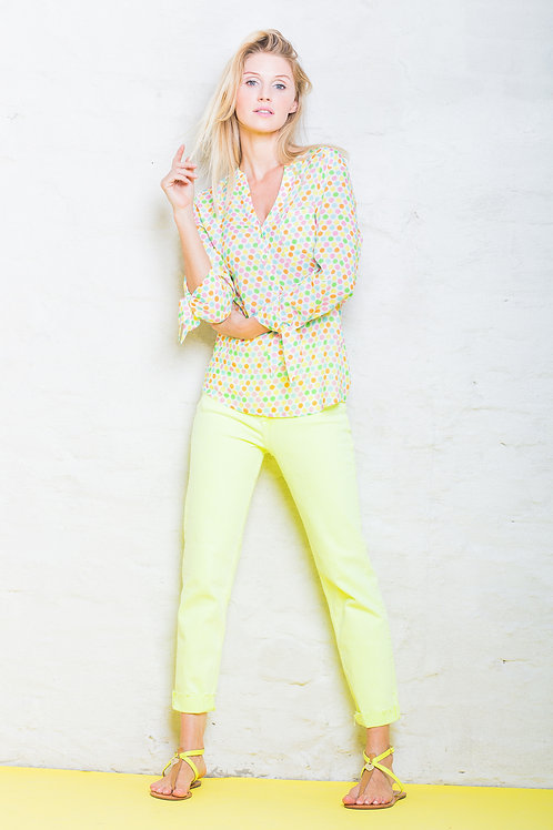 Bluse gepunktet von Emily van den Bergh