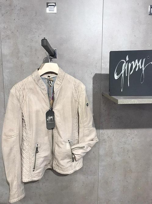 Echt-Leder-Jacke beige von Gipsy