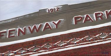 Fenway Snow Facade