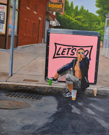 Lets Go Queensberry St 24x36
