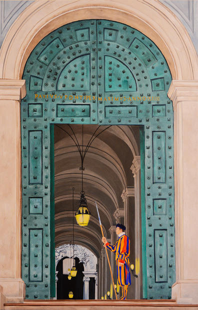 Vatican Swiss Guard 48x24