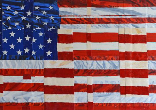 American Flag Woven