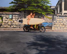 Bali Moped Surfer