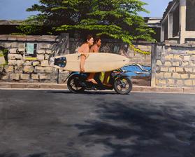 Bali Moped Surfers 36x24