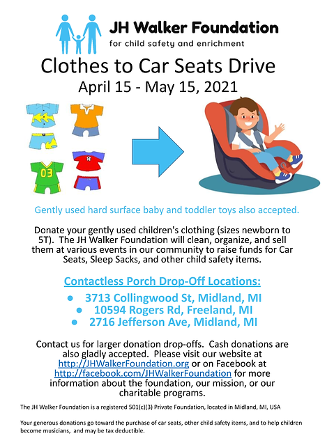 UPDATED - Clothes to Car Seats Drive w d