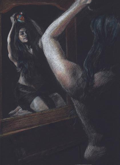Andreina with Huichol Mask.jpg