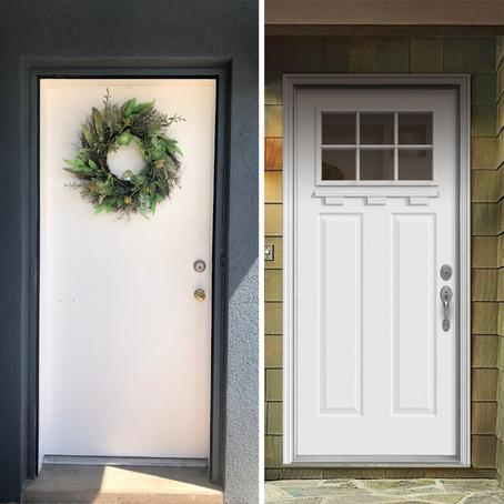 DIY Front Door, before + after