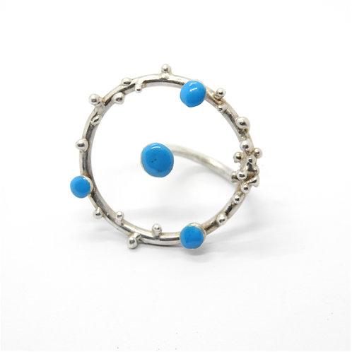 DARKLAND | ANELLO cod.69 dk-ring-blue