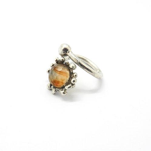 FLYING STONES - anello argento, agata.