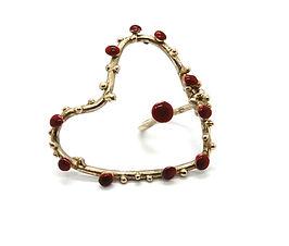 anello bronzo-smalti HUNGRY HEARTS - EG