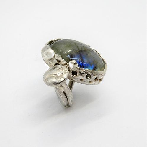 FLYING STONES - anello argento, labradorite