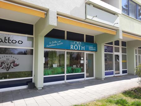 """""""Das Brillenstudio Roth"""" Wir haben als systemrelevanter Dienstleister geöffnet."""