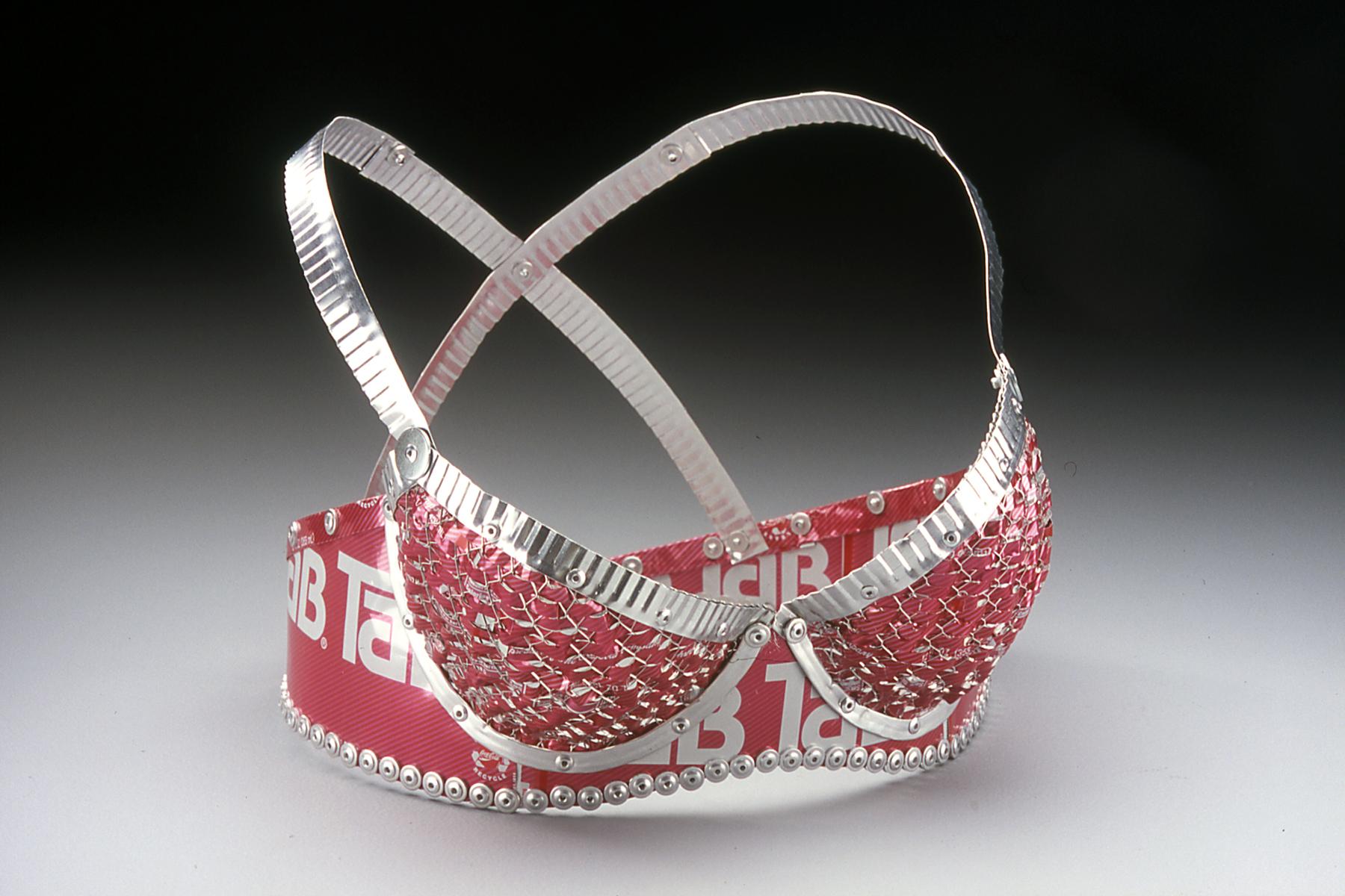 Pink Tab Bikini Top