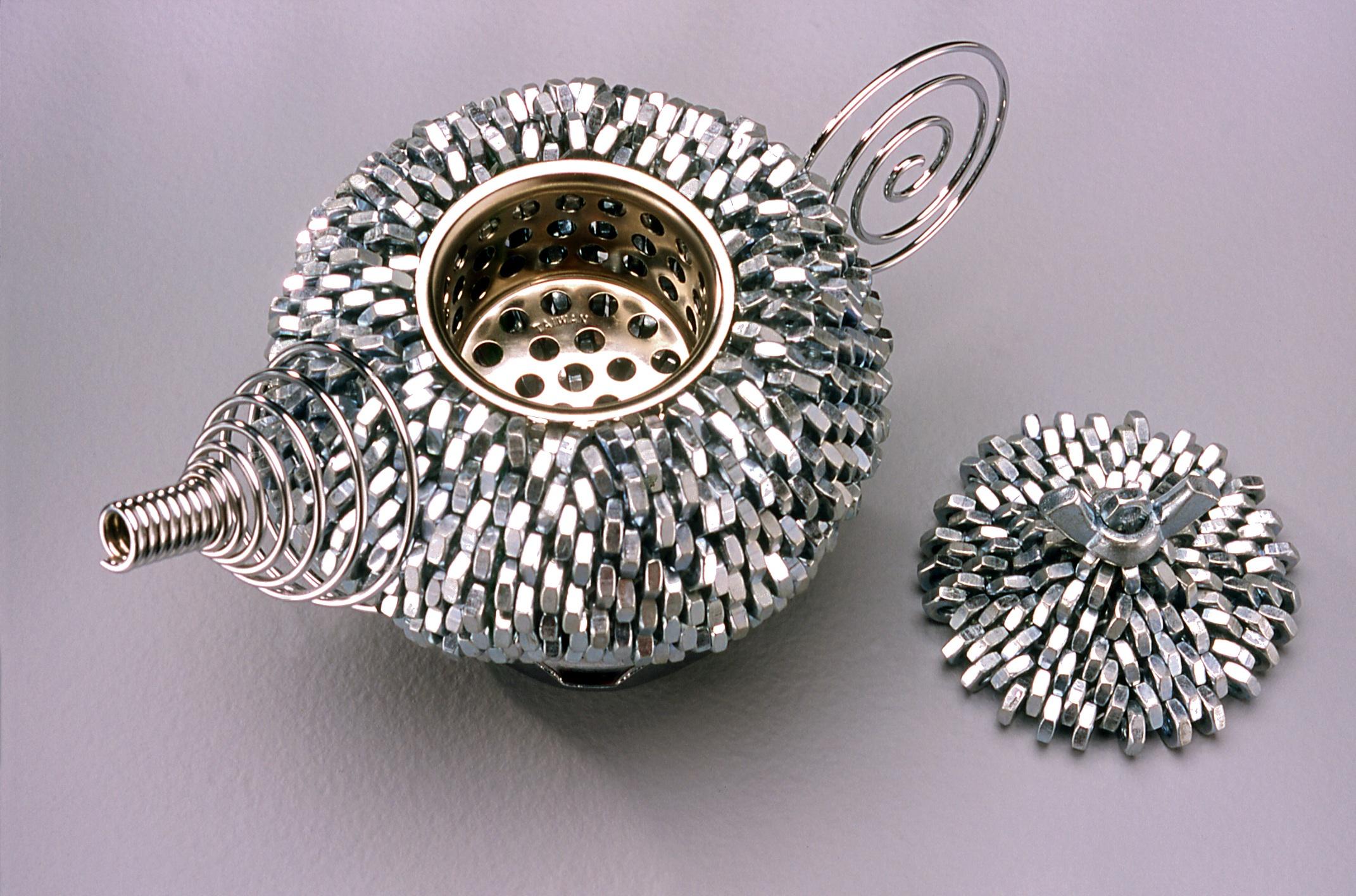 Steel Nut Teapot Detail