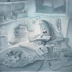 Baboo nightime reading