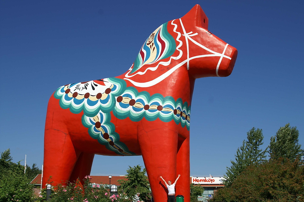 The Dala Horse was an important symbol throughout my childhood and has brought me lots of inspiration in my work as a Children's Book author and illustrator.