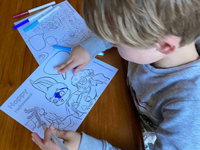 Halloween coloring pages with LITERACY word bubbles!