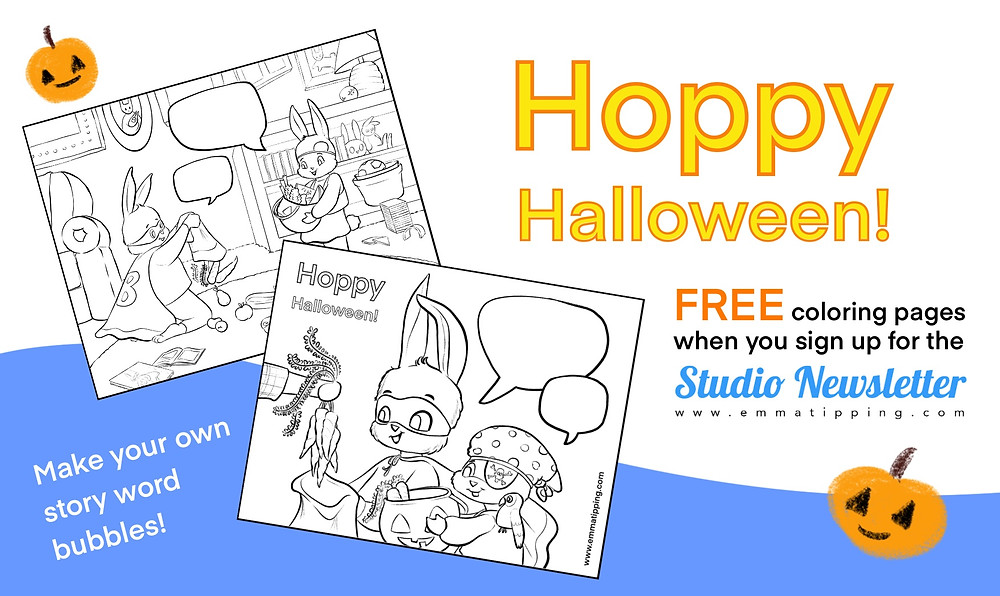 Graphic advertising new free coloring pages, available when you sign up for my Studio Newsletter!