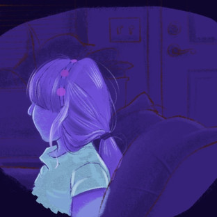 Movie Night In Blue Violet