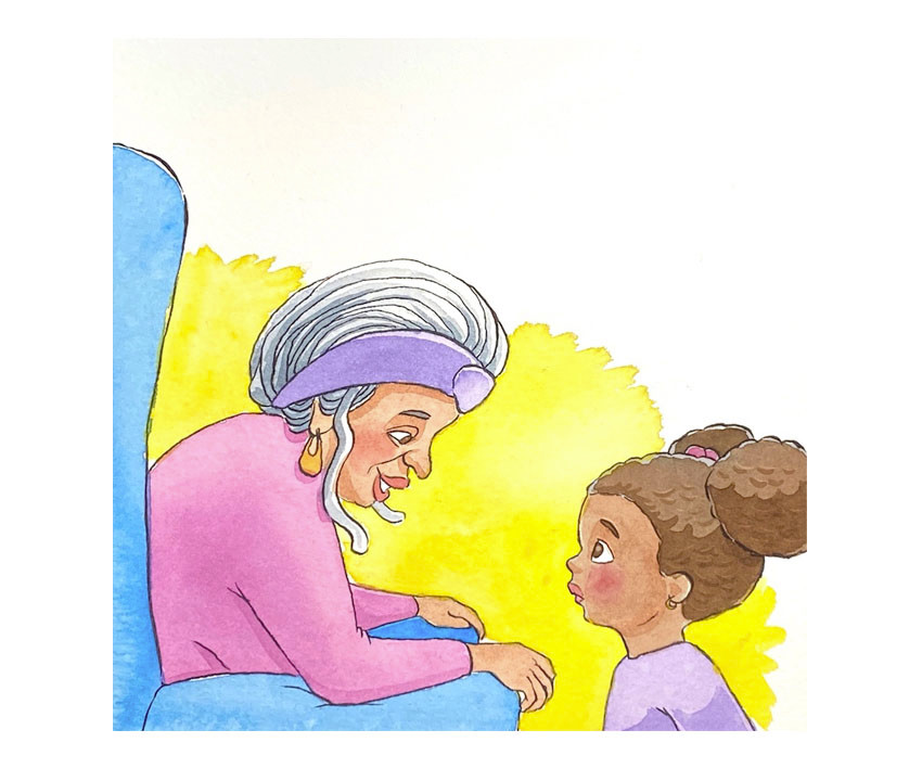 Diamond and Grandma discuss the sugar sprite