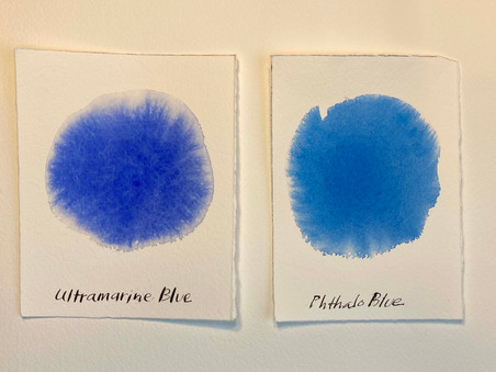 PIGMENTS: Ultramarine Blue vs. Phthalo Blue