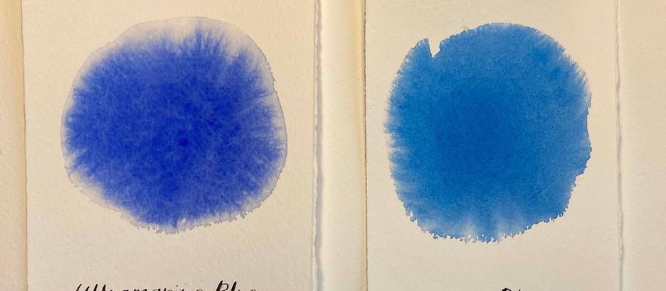 PIGMENTS: Ultramarine Blue vs. Phthalo Blue