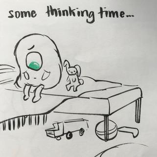 Green eyed monster sketch