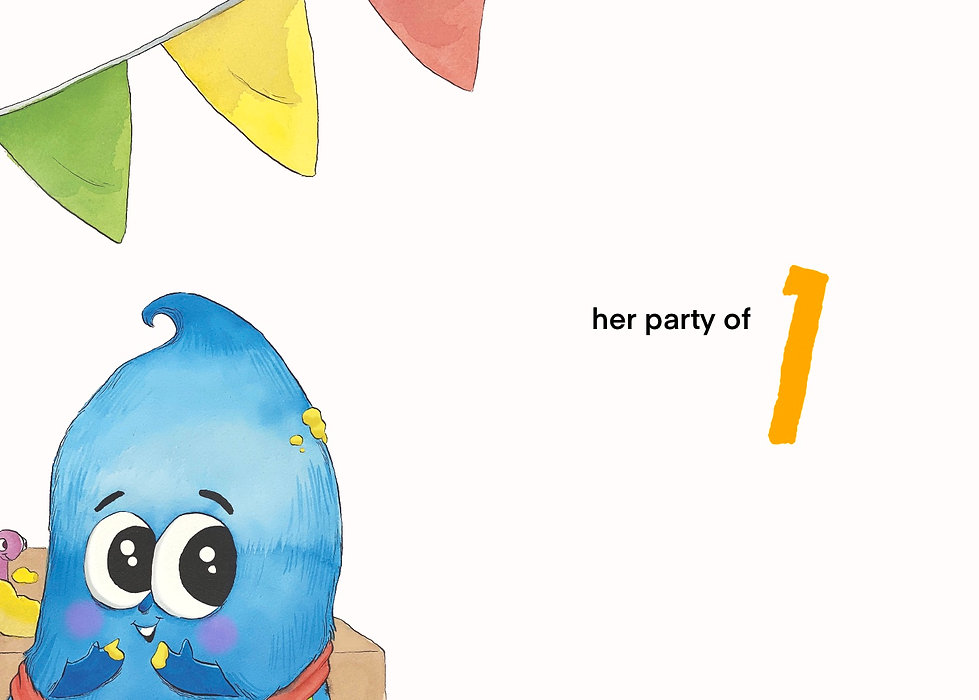 In this sample illustration for children's book, Baboo Angry Bakes, Baboo sees something exciting