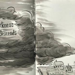 Darkness descends sketch