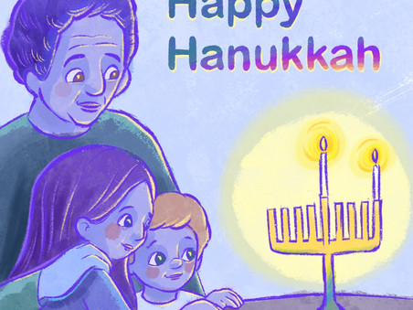 Hanukkah candles warm our cheeks and our hearts