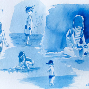 Beach Sketches in Phthalo