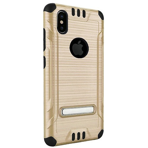 Tech Shockproof Case(Gold) Fits Iphone X