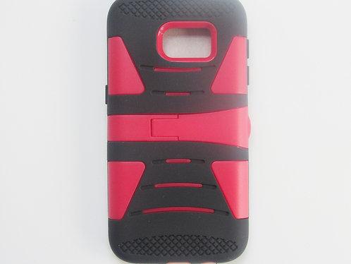 Rugged Grip Case w/ kickstand (Black/Red)Galaxy 7