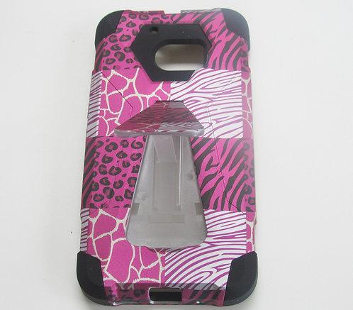 Armor Case w/kickstand (Pink/Black) HTCM10