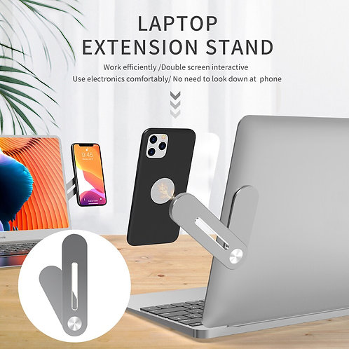 Magnetic Phone Holder Side Mount Clip Fixed Clip on Flat & Slim Laptop Monitor