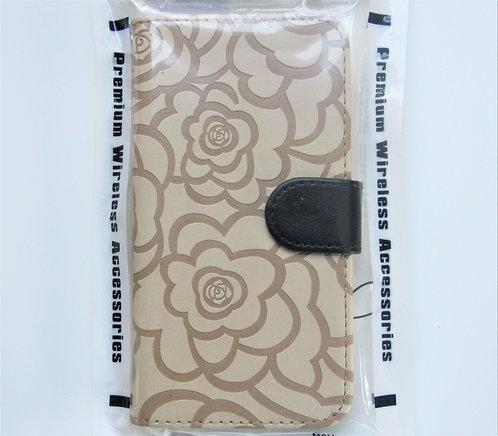 Textured Rose Wallet (Light Brown) Samsung 6