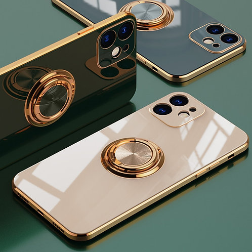 Luxury Plating Ring Holder Phone Case for iPhone