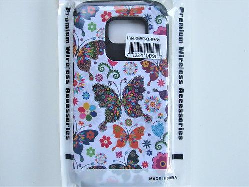 Butterfly Flower Rubberized Hybrid Samsung 6